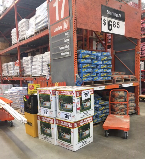 The Originator Of Bullbag Reusable Dumpster Bag Has Launched In Houston Texas Home Depot S To Stock Bullbags